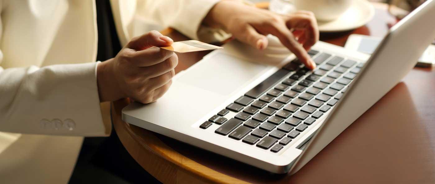 بطاقة التسوق عبر الإنترنت