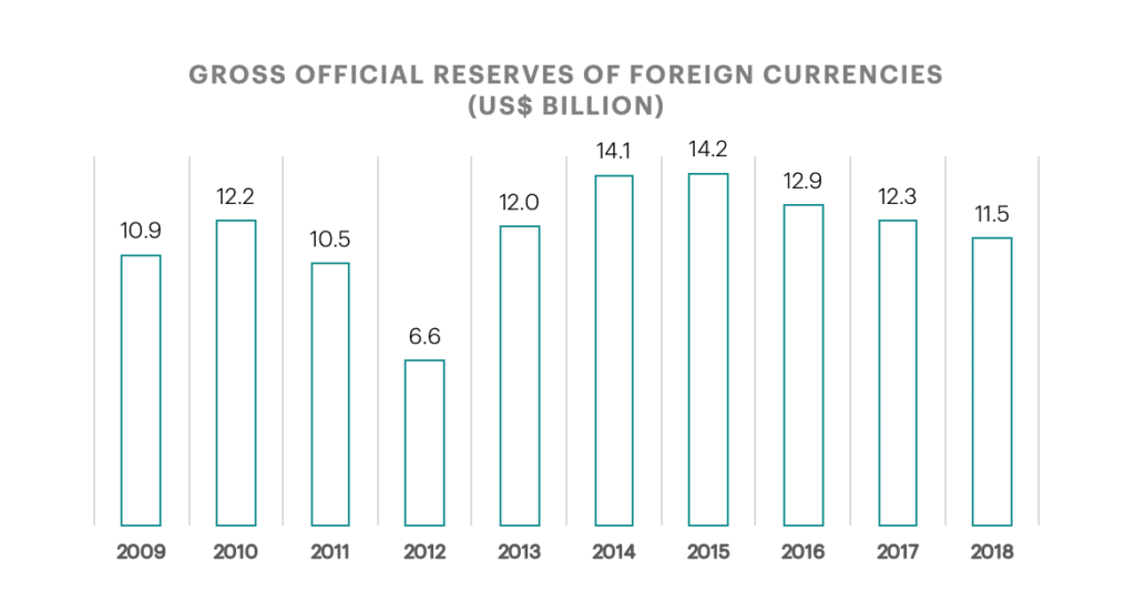 Reserves of Foreign Currencies